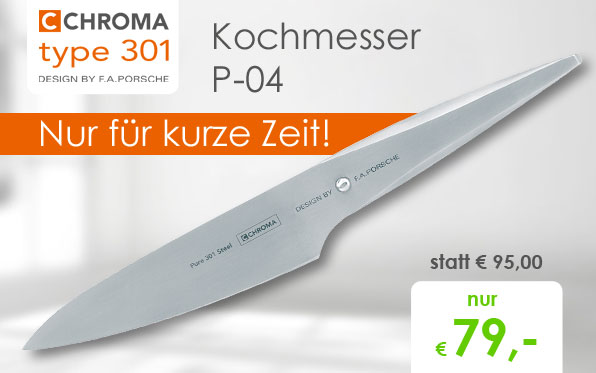 CHROMA type 301 Kochmesser 14,2cm, P-04 Angebot